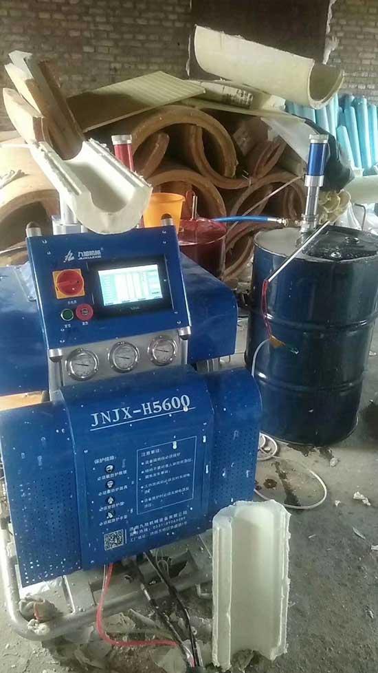 H5600D聚氨酯保温瓦壳管制造设备